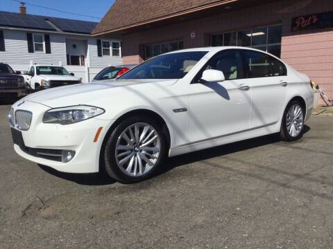 2012 BMW 5 Series for sale at Pat's Auto Sales, Inc. in West Springfield MA