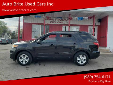 2015 Ford Explorer for sale at Auto Brite Used Cars Inc in Saginaw MI