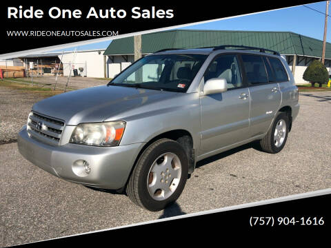 2007 Toyota Highlander for sale at Ride One Auto Sales in Norfolk VA