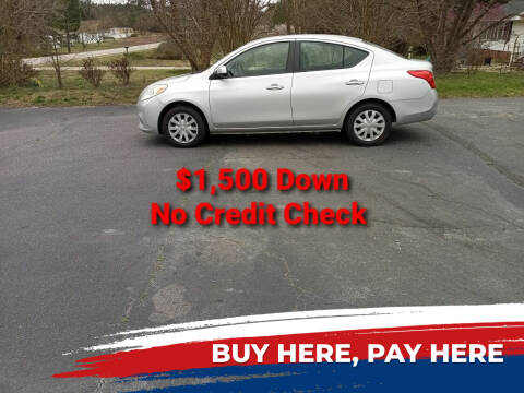 2012 Nissan Versa for sale at BP Auto Finders in Durham NC