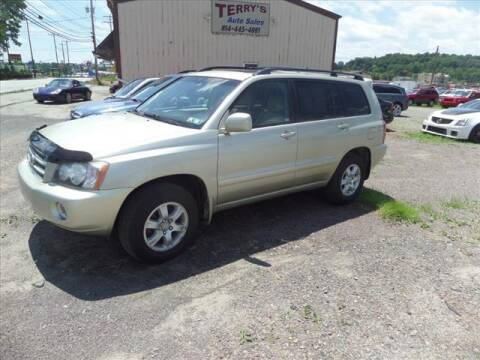 2002 Toyota Highlander for sale at Terrys Auto Sales in Somerset PA