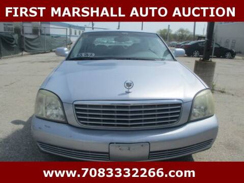 2005 Cadillac DeVille for sale at First Marshall Auto Auction in Harvey IL