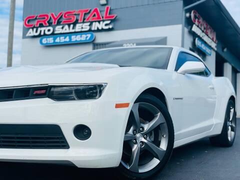 2014 Chevrolet Camaro for sale at Crystal Auto Sales Inc in Nashville TN