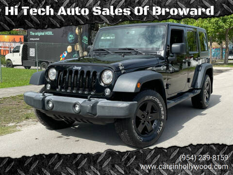 2017 Jeep Wrangler Unlimited for sale at Hi Tech Auto Sales Of Broward in Hollywood FL