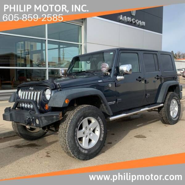 2008 Jeep Wrangler Unlimited for sale at Philip Motor Inc in Philip SD