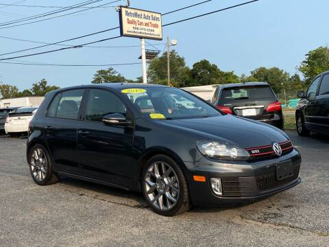 2013 Volkswagen GTI for sale at MetroWest Auto Sales in Worcester MA
