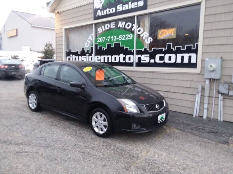 2012 Nissan Sentra for sale at CITY SIDE MOTORS in Auburn ME