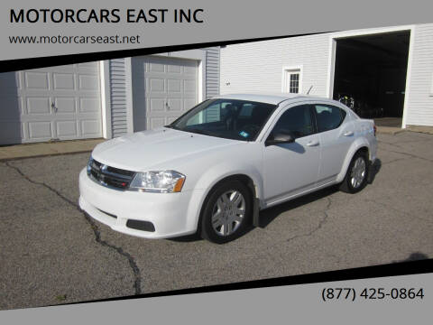 2014 Dodge Avenger for sale at MOTORCARS EAST INC in Derry NH