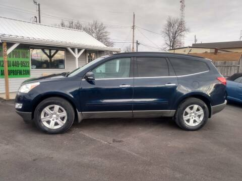 2011 Chevrolet Traverse for sale at Auto Pro Inc in Fort Wayne IN