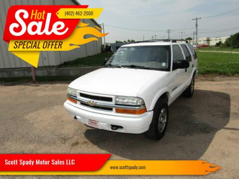 2004 Chevrolet Blazer for sale at Scott Spady Motor Sales LLC in Hastings NE