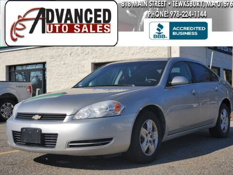 2008 Chevrolet Impala for sale at Advanced Auto Sales in Tewksbury MA