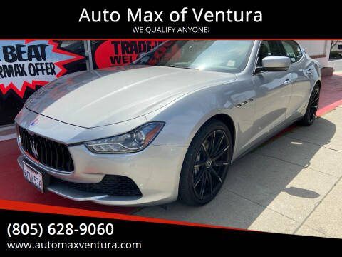 2014 Maserati Ghibli for sale at Auto Max of Ventura in Ventura CA