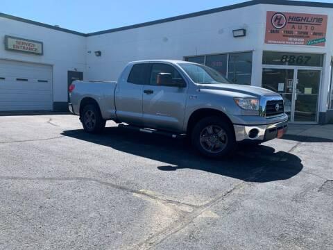 2008 Toyota Tundra for sale at HIGHLINE AUTO LLC in Kenosha WI
