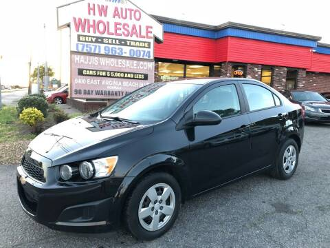 2015 Chevrolet Sonic for sale at HW Auto Wholesale in Norfolk VA