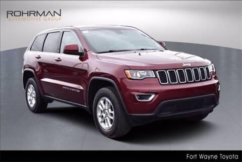 2018 Jeep Grand Cherokee for sale at BOB ROHRMAN FORT WAYNE TOYOTA in Fort Wayne IN