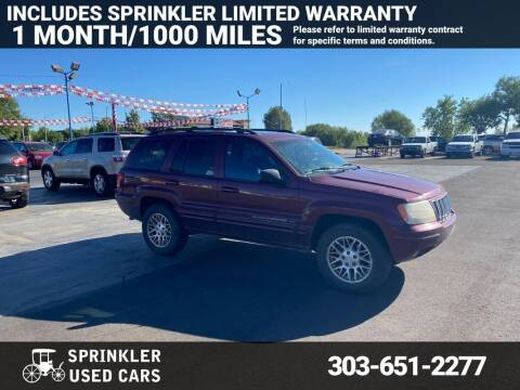 2003 Jeep Grand Cherokee for sale at Sprinkler Used Cars in Longmont CO
