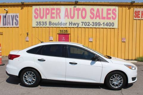 2016 Ford Focus for sale at Super Auto Sales in Las Vegas NV