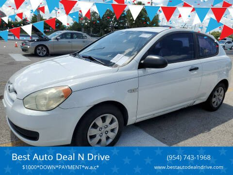 2008 Hyundai Accent for sale at Best Auto Deal N Drive in Hollywood FL