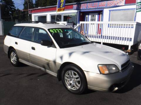 2000 Subaru Outback for sale at 777 Auto Sales and Service in Tacoma WA