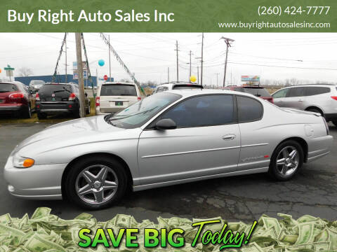 2001 Chevrolet Monte Carlo for sale at Buy Right Auto Sales Inc in Fort Wayne IN