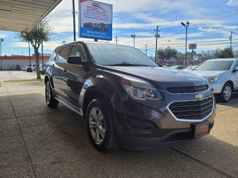 2016 Chevrolet Equinox for sale at Magic Auto Sales in Dallas TX