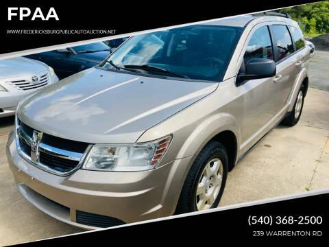 2009 Dodge Journey for sale at FPAA in Fredericksburg VA