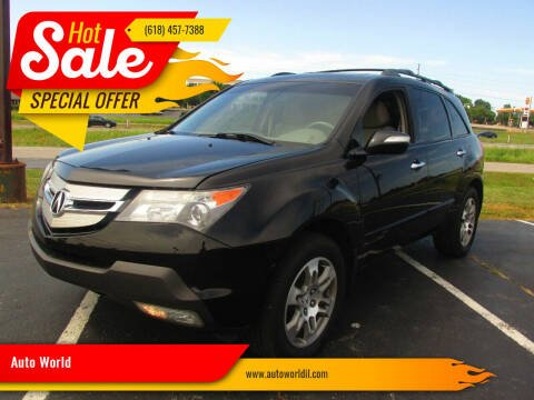 2008 Acura MDX for sale at Auto World in Carbondale IL