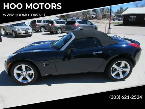 2008 Pontiac Solstice for sale at HOO MOTORS in Kiowa CO