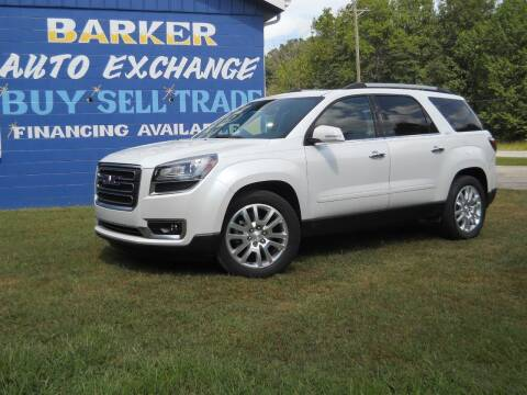 2016 GMC Acadia for sale at BARKER AUTO EXCHANGE in Spencer IN