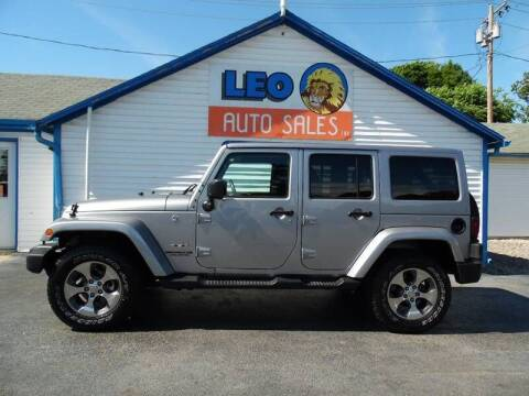 2017 Jeep Wrangler Unlimited for sale at Leo Auto Sales in Leo IN