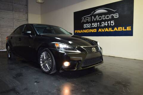 2014 Lexus IS 250 for sale at ARI Motors in Houston TX