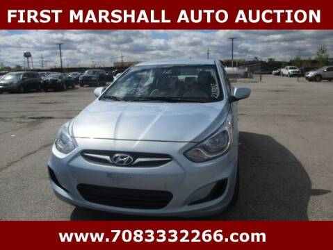 2012 Hyundai Accent for sale at First Marshall Auto Auction in Harvey IL