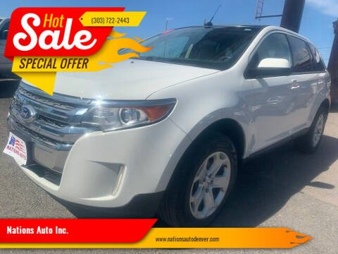 2013 Ford Edge for sale at Nations Auto Inc. in Denver CO