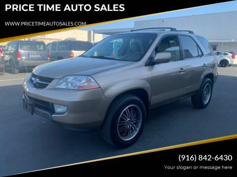 2001 Acura MDX for sale at PRICE TIME AUTO SALES in Sacramento CA