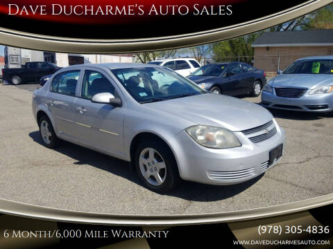 2008 Chevrolet Cobalt for sale at Dave Ducharme's Auto Sales in Lowell MA