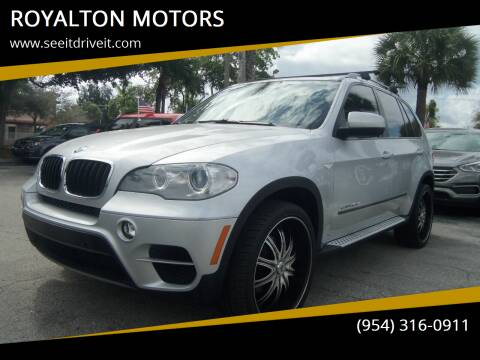 2013 BMW X5 for sale at ROYALTON MOTORS in Plantation FL