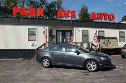 2013 Chevrolet Cruze for sale at Park Ave Auto Inc. in Worcester MA