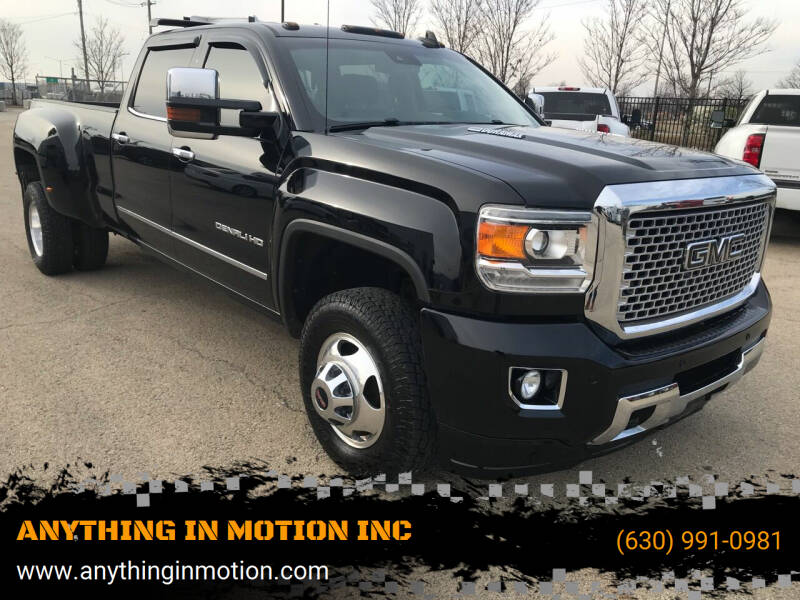 2015 GMC Sierra 3500HD for sale at ANYTHING IN MOTION INC in Bolingbrook IL