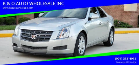 2008 Cadillac CTS for sale at K & O AUTO WHOLESALE INC in Jacksonville FL