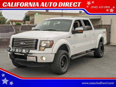 2012 Ford F-150 for sale at CALIFORNIA AUTO DIRECT in Costa Mesa CA