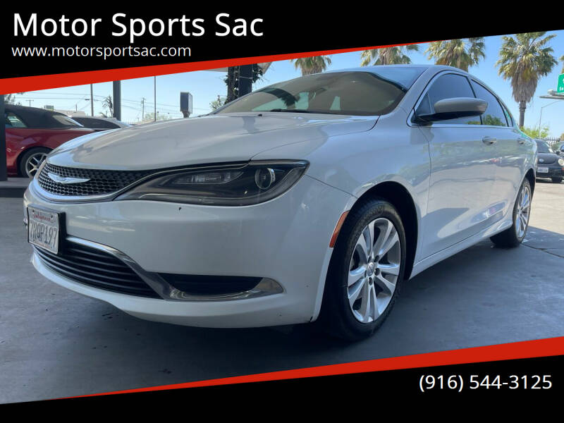2016 Chrysler 200 for sale at Motor Sports Sac in Sacramento CA