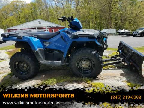 2015 Polaris Sportsman ETX w/ Plow for sale at WILKINS MOTORSPORTS in Brewster NY