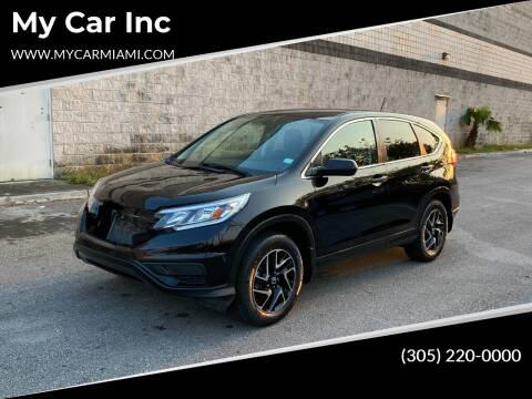 2016 Honda CR-V for sale at My Car Inc in Pls. Call 305-220-0000 FL