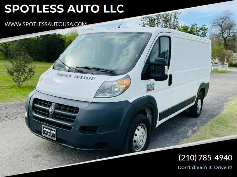 2018 RAM ProMaster Cargo for sale at SPOTLESS AUTO LLC in San Antonio TX
