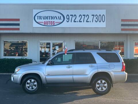 2007 Toyota 4Runner for sale at Traditional Autos in Dallas TX