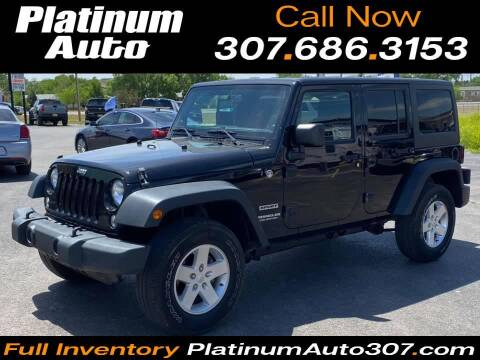 2014 Jeep Wrangler Unlimited for sale at Platinum Auto in Gillette WY