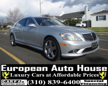 2008 Mercedes-Benz S-Class for sale at European Auto House in Los Angeles CA