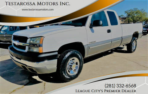 2003 Chevrolet Silverado 2500HD for sale at Testarossa Motors Inc. in League City TX