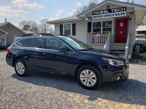 2018 Subaru Outback for sale at Wheel Tech Motor Vehicle Sales in Maylene AL