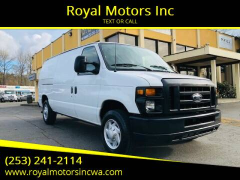2013 Ford E-Series Cargo for sale at Royal Motors Inc in Kent WA